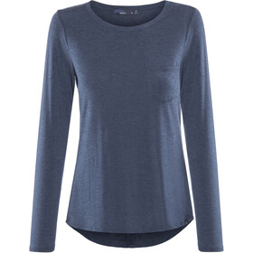 Prana Foundation T-shirt manches longues à col ras-du-cou Femme, equinox blue heather